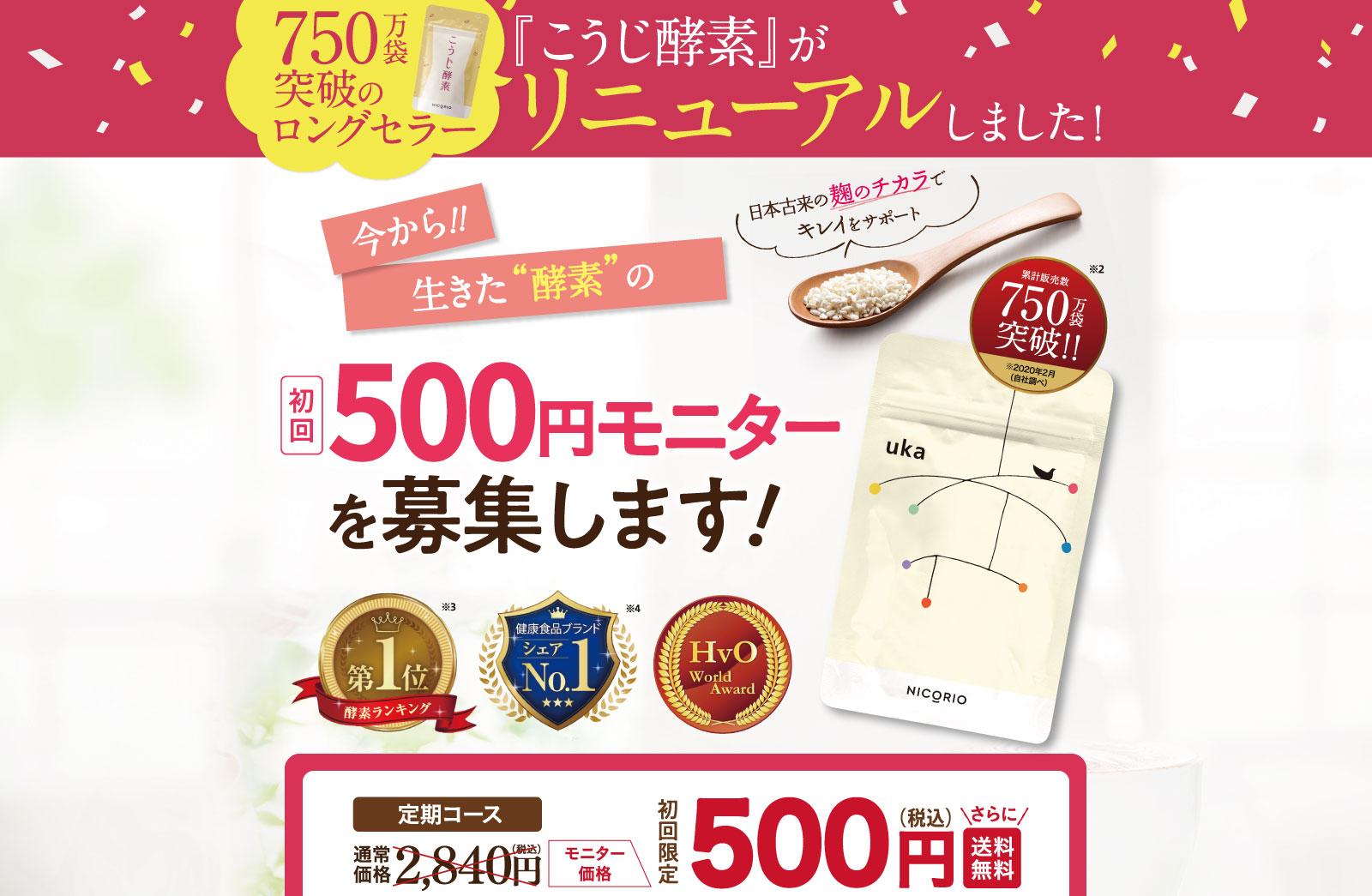 初回500円モニターを募集します!